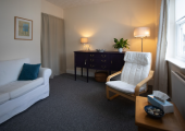 My counselling room at Caversham Counselling Centre