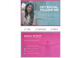Follow me on Social - Mental Health Wellness - Get Social with me daily on all platforms