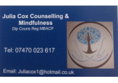 Julia Cox          Registered MBACP.   Counsellor & Mindfulness Practitioner image 1