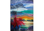 Connecting to your truth (Masha's painting - Goddess of the Storm Oya)