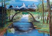 Working through transitions (Masha's painting 'The Bridge')