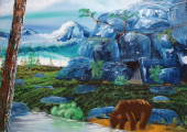 Connecting to your Power Animal (Masha's painting 'Cave Bear')
