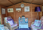 our welcoming therapy cabin