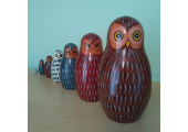 My Matryoshka owls/dolls on my shelf<br />For me, these represent how we carry our child selves within us and how these past selves need nurturing too. I chose owls because I believe that we are wiser than we think