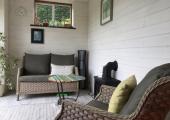 Quiet, discreet garden room