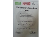 Britain's Children's Champion's Award Winner