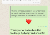 On going client: feedback after a session.