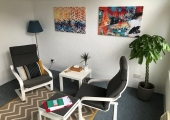 Counselling room - Our Abstract room, fresh, bright and full of colour