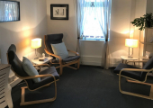 Our confidential and comfortable therapy room.