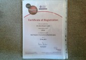 Certificate of Registration from BACP