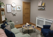 My Counselling room in Ashford Kent<br />A warm and inviting space