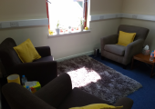 Therapy room at Sutherland Psychotherapy & Counselling
