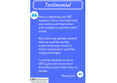 Testimonial from someone after CBT Therapy<br />Visit us to find out more www.cbtreflections.co.uk