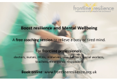 Free coaching conversation for Frontline Workers. Book online www.frontlineresilience.org.uk