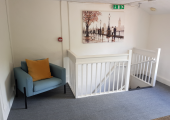 The waiting area at 42B Worcester Road