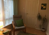 Counselling/Supervision room - My warm, quiet and confidential counselling room