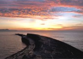 Sunrise over the Cobb, Lyme Regis