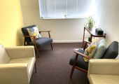 Therapy room at Effra Space in South London