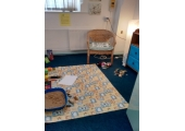 Dragonfly room<br />set out for play therapy for younger clients