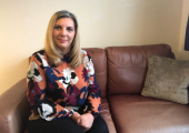 Laura in her counselling room