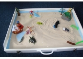 Examples of some of the creative media available - A therapeutic sandtray