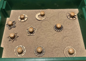 Sand tray with Sand stamps