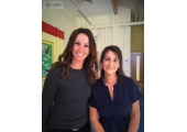 Sharon Galley with Andrea McLean<br />With the Smile Group