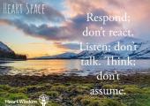 Heart Wisdom<br />Awareness helps healing