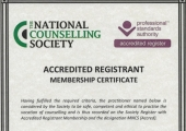 Accredited Registrant with National Counselling Society