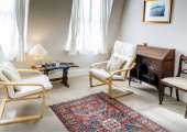 Green Room - large and airy space, ideal setting for psychotherapy. Clifton Village Bristol.