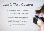 Life is Like a Camera - Let's make the future positive....
