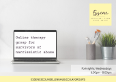 Online therapy group for survivors of narcissistic abuse.