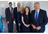 Opening of Hayward & Goodchild Counselling Services Ltd in 2015<br />Left to right - David Rutley MP, Glyn Goodchild, Linda Hayward, Lisa Goodchild & Bill Beaumont CBE DL