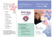 Nora House, Psychotherapy and Counselling Practice | Rugeley<br />Ann Finucane Psychotherapy and Counselling | Flyer - side 1