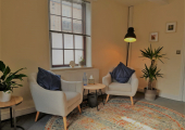 Comfortable therapy room at Reflect Psychology and Psychotherapy in Pocklington