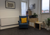 Socially Distanced Counselling Room