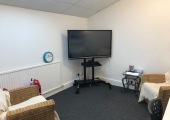 Therapy seating and interactive white board
