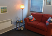 My counselling room in Wimborne.