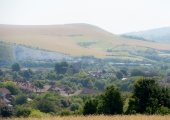 Lewes from the Sussex Downs