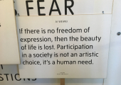 Expression through art can bring relief from what we cannot say in words.