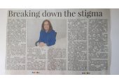 Article in the Advertiser and Times - Breaking down the stigma
