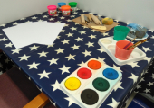 Paints & Clay Table