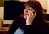 I work on the phone - I offer phone therapy sessions, which can be the only type of communication or used when it is more convenient for a client.