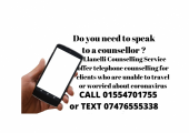 Telephone counselling now available