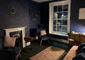 Warwickshire Therapy couples counselling room at night