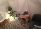My counselling space<br />I work in a small but comfortable room.