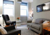 Comfortable, relaxed counselling space