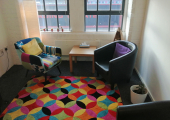 Bright, light counselling space