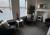 The larger of the two rooms at Battersea Rise, London SW11.