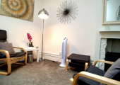 This is the smaller of the Battersea Rise therapy spaces.